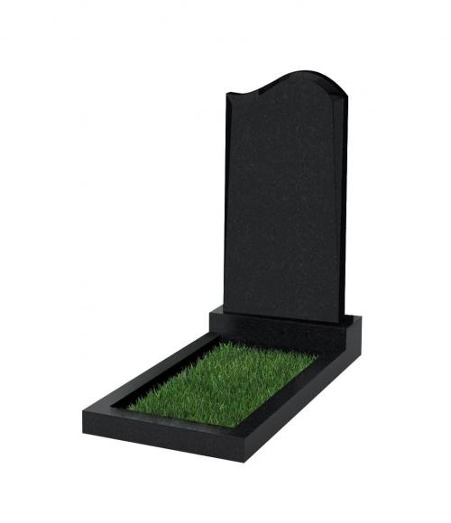 Памятник №14 резной вертикальный 1000*500*70 (Китай, черный К06)