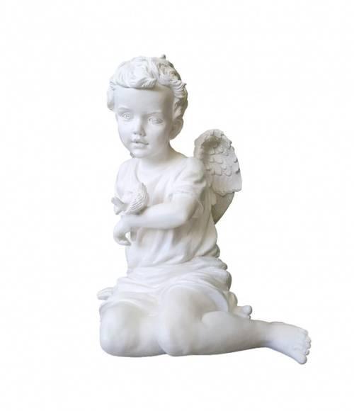 Скульптура 005 Ангел с воробышком 460*430*290
