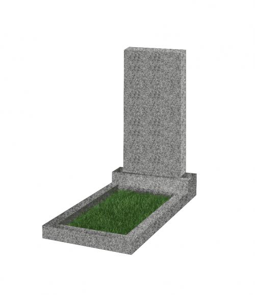 Памятник прямоугольный вертикальный 1000*500*50 (Китай,светло-серый К03)