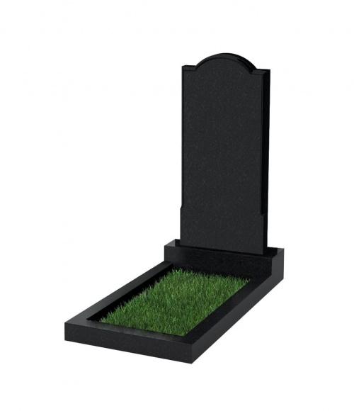 Памятник №10 резной вертикальный 1000*450*70 (Китай, черный К06)
