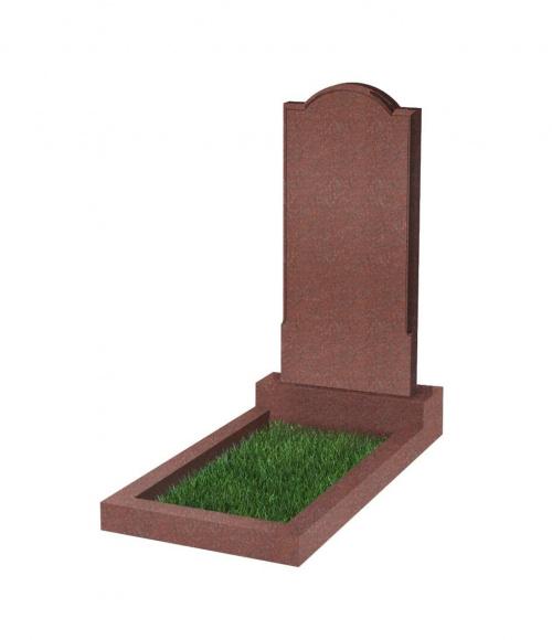 Памятник №10 резной вертикальный 1000*450*70 (Индия, красный К05)