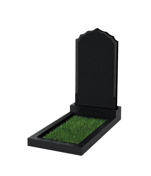 Памятник №93 резной вертикальный 1000*550*70 (Китай, черный К06)