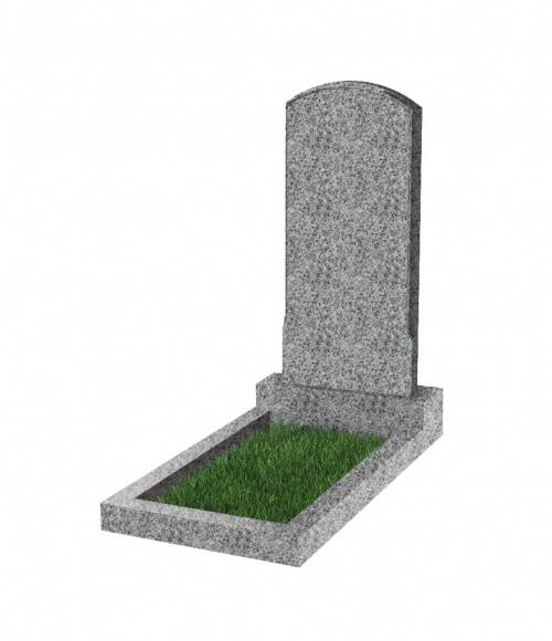 Памятник №18 экономный вертикальный 800*400*50 (Китай, светло-серый К03)