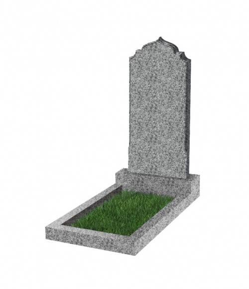Памятник №19 экономный вертикальный 800*400*50 (Китай, светло-серый К03)