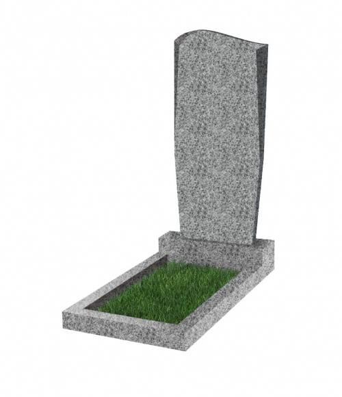 Памятник №21 экономный вертикальный 800*400*50 (Китай, светло-серый К03)