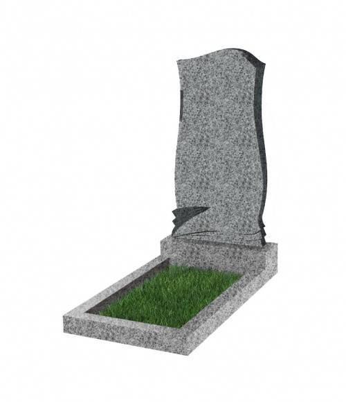 Памятник №48 экономный вертикальный 800*400*50 (Китай, светло-серый К03)