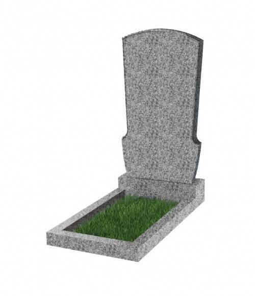 Памятник №23 экономный вертикальный 800*450*50 (Китай, светло-серый К03)
