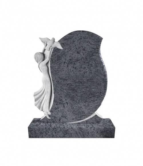 Памятник №2  элитный вертикальный 1300*1050*120 (Индия, голубой)