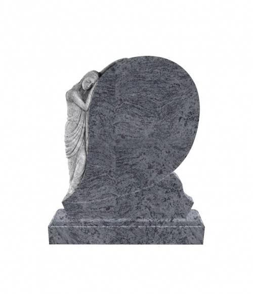 Памятник №6  элитный вертикальный 1300*1100*120 (Индия, голубой)