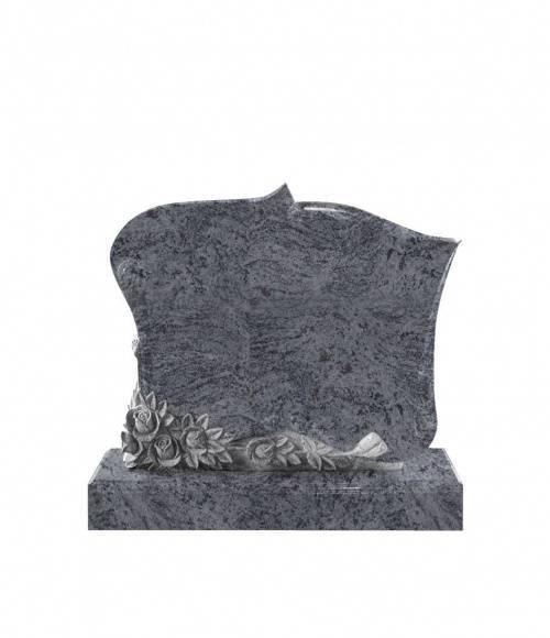 Памятник №7  элитный вертикальный 1200*1000*100 (Индия, голубой)