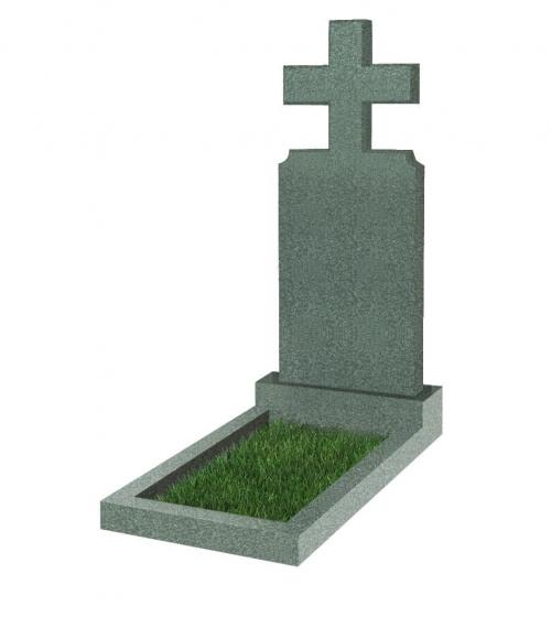 Памятник №100 резной вертикальный 1200*500*70 (Китай, зеленый К02)
