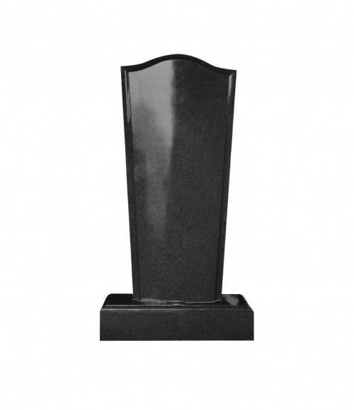 Памятник №19 элитный вертикальный 1500*700*150 (Индия, черный  К06)