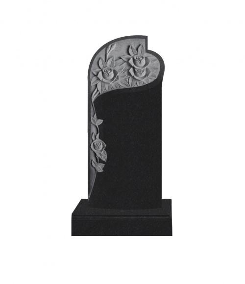 Памятник №12 элитный вертикальный 1600*700*120 (Индия, черный  К06)