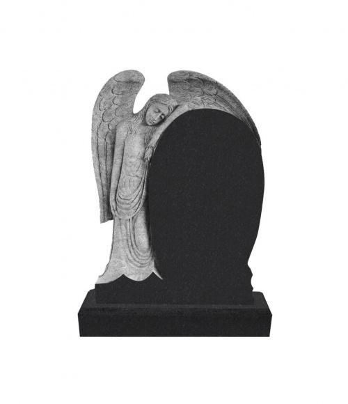 Памятник №14 элитный вертикальный 1400*1000*120 (Индия, черный  К06)