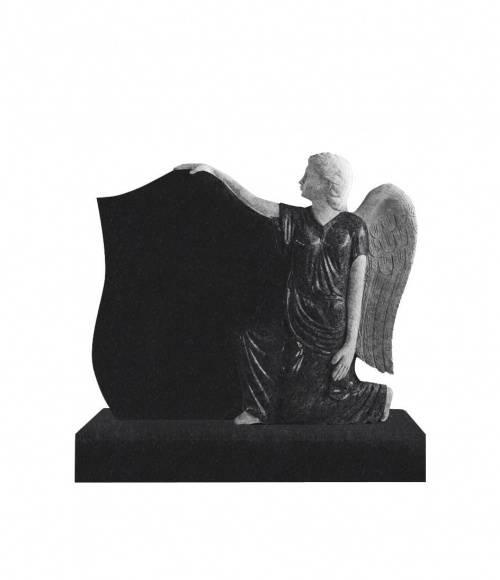 Памятник №15 элитный вертикальный 1200*1000*140 (Индия, черный  К06)