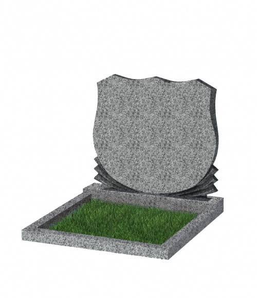 Памятник №86 экономный горизонтальный 700*900*50 (Китай, светло-серый К03)