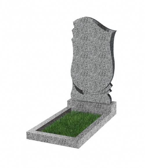 Памятник №58 экономный вертикальный 800*450*50 (Китай, светло-серый К03)