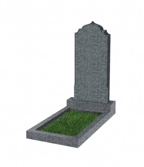 Памятник №19 экономный  вертикальный 800*400*50 (Китай, темно-серый К04)