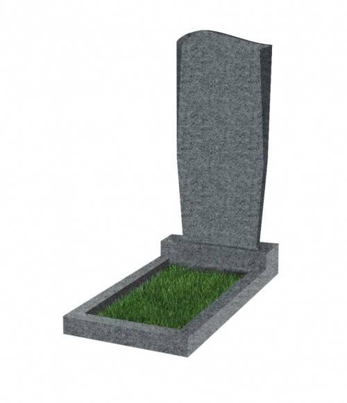 Памятник №21 экономный  вертикальный 800*400*50 (Китай, темно-серый К04)