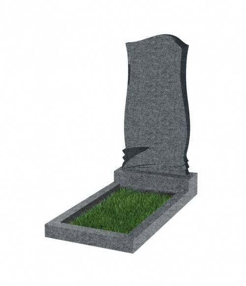 Памятник №48 экономный  вертикальный 800*400*50 (Китай, темно-серый К04)