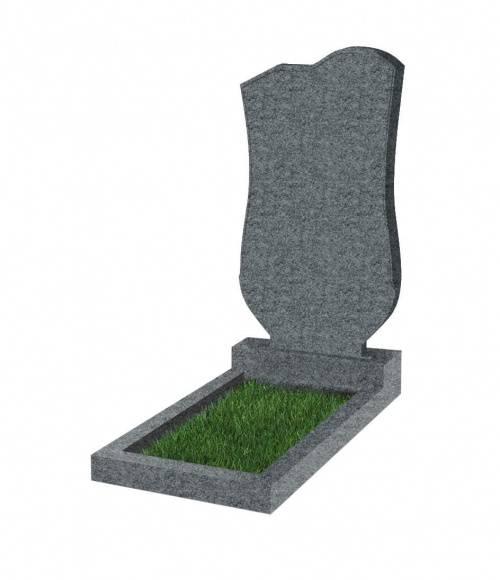 Памятник №15 экономный вертикальный 1000*500*50 (Китай, темно-серый К04)