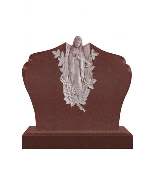 Памятник №10 элитный горизонтальный 1300*1300*100 (Индия, красный К05)