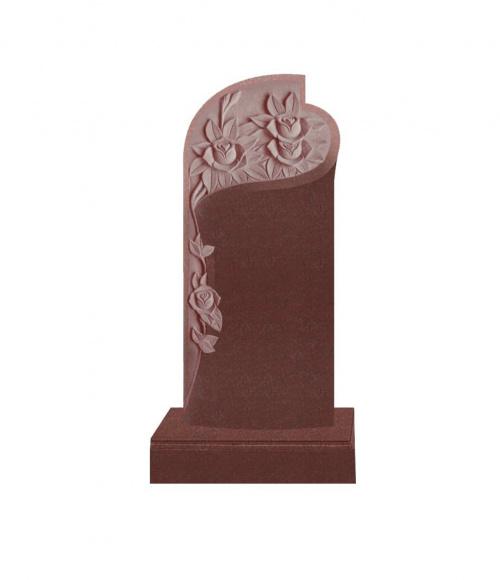 Памятник №12 элитный вертикальный 1600*700*120 (Индия, красный К05)