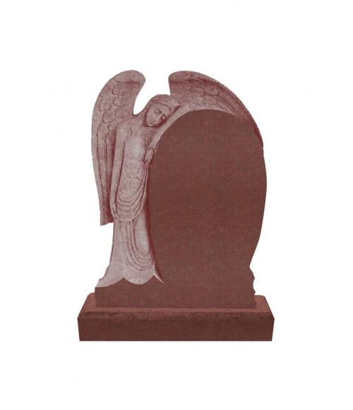 Памятник №14 элитный вертикальный 1400*1000*120 (Индия, красный К05)